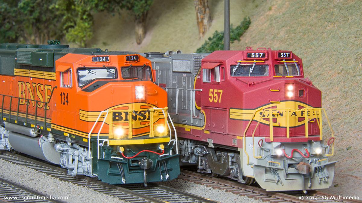 BNSF GP60M 134 and B40-8W 557