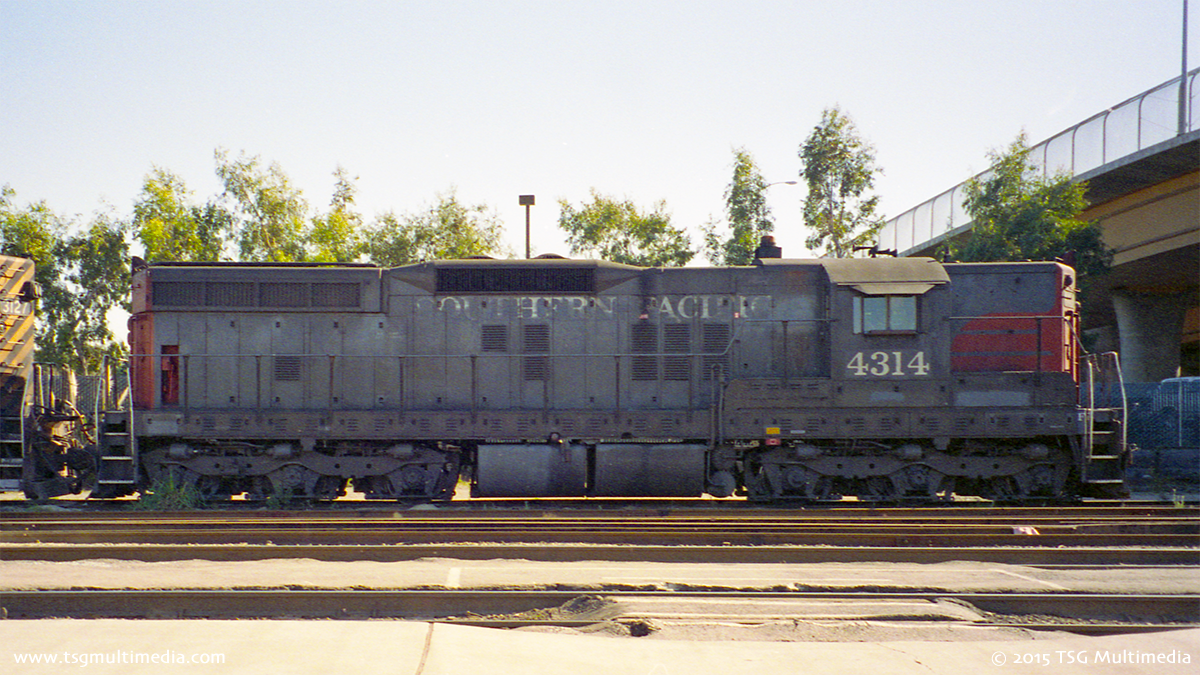 SP SD9E 4314, South San Francisco, 1995